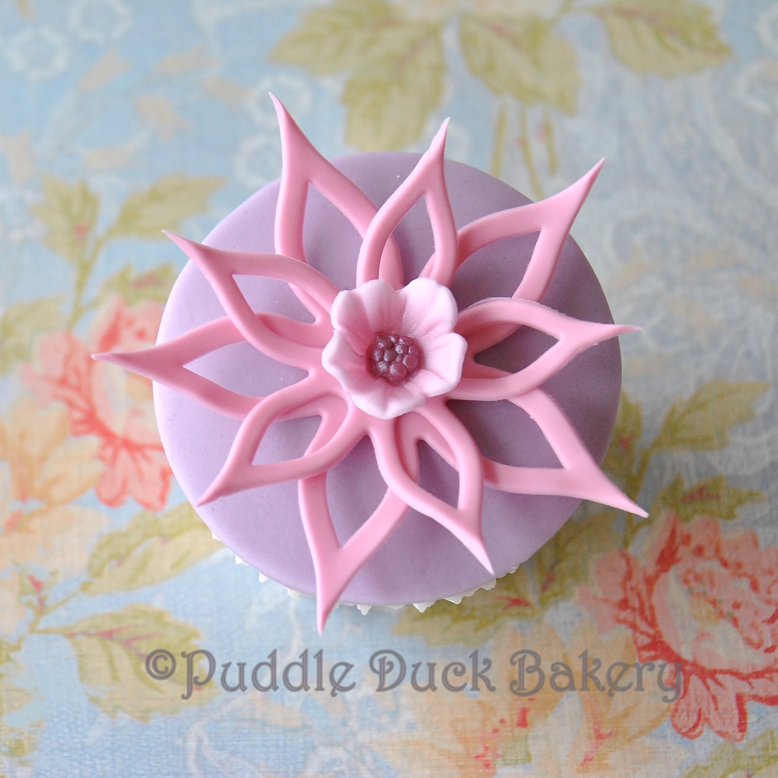 Getting creative with a flower on a cupcake