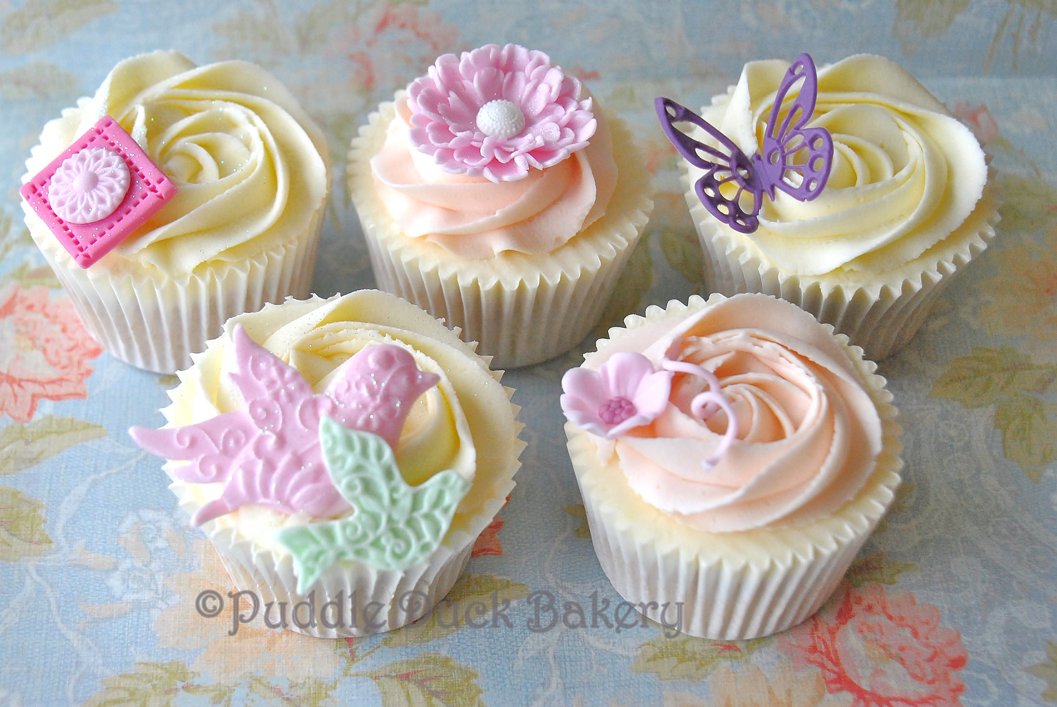 An assortment of elegant cupcakes