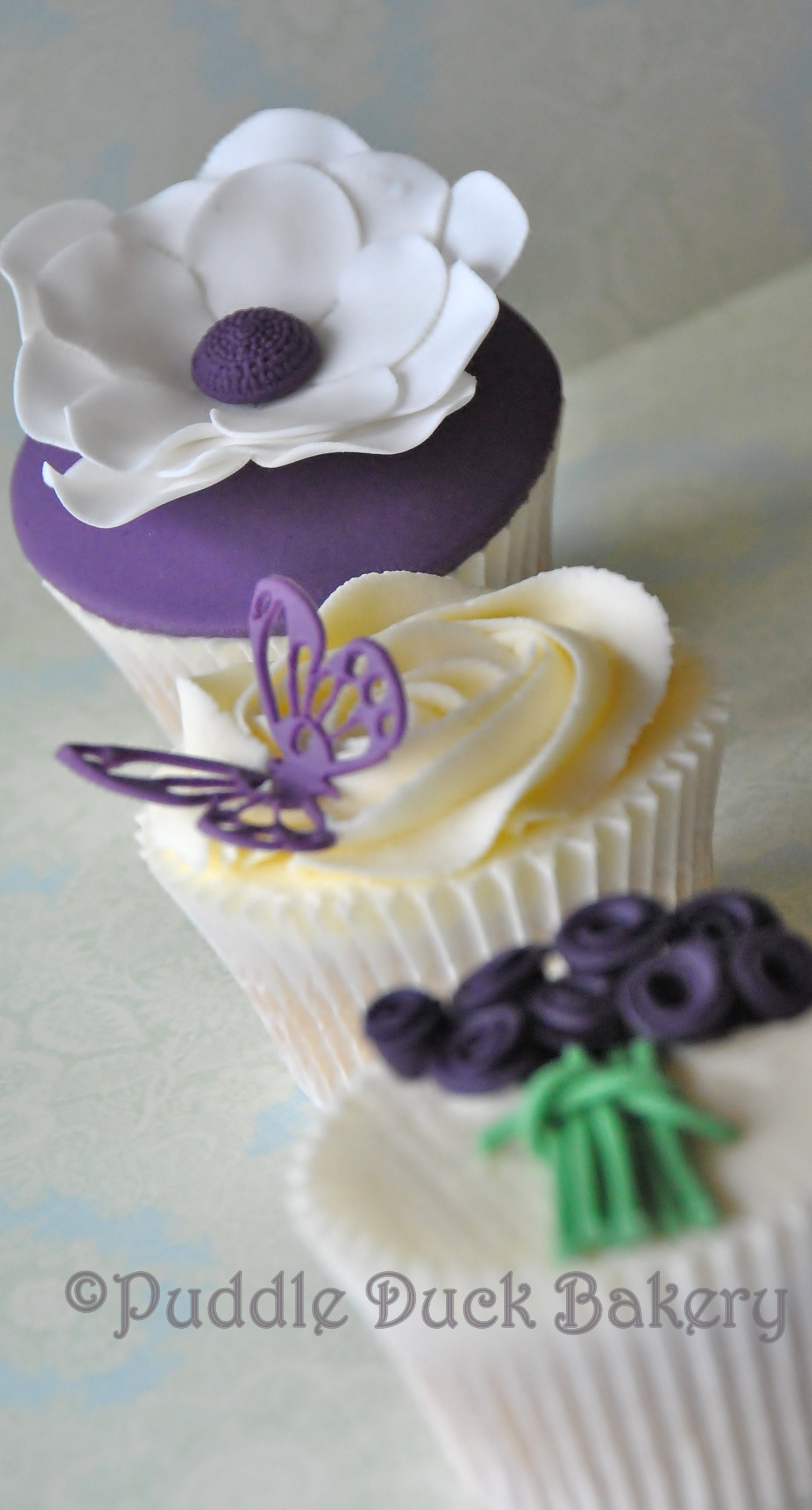 A butterfly on a cupcake