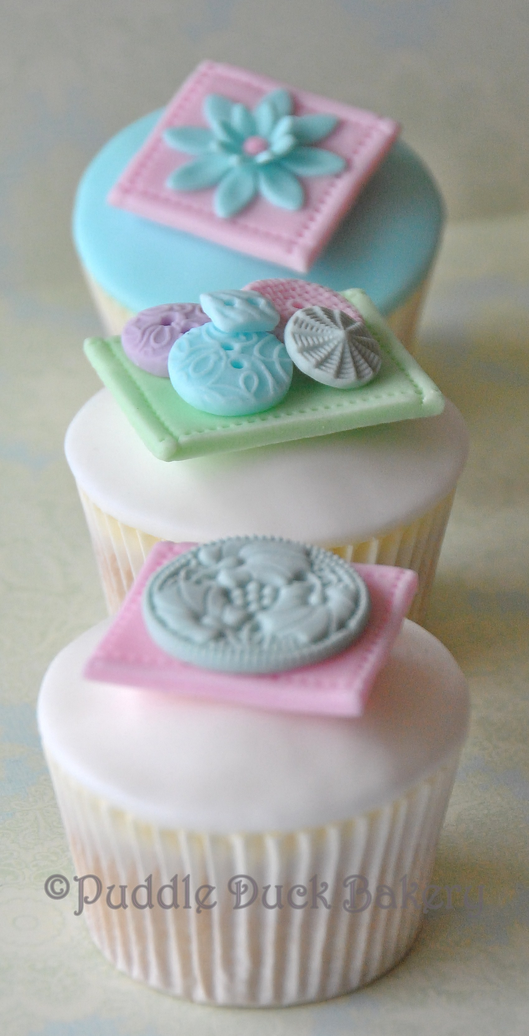An example of a button on a cupcake.