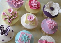 An assortment of sample cupcakes